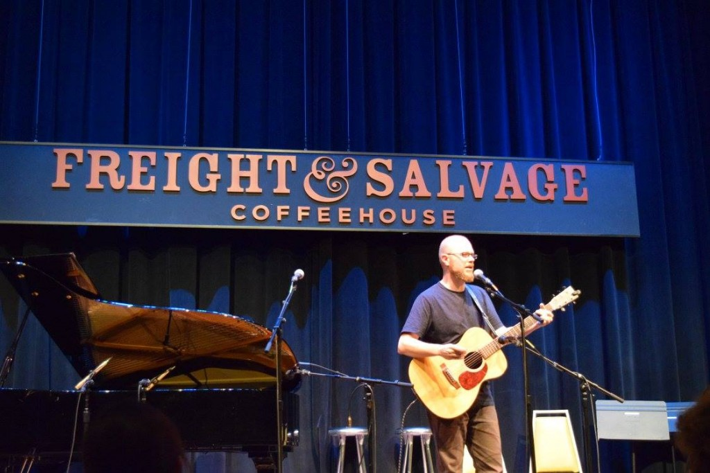 Holding forth at the beautiful Freight and Salvage in Berkeley.